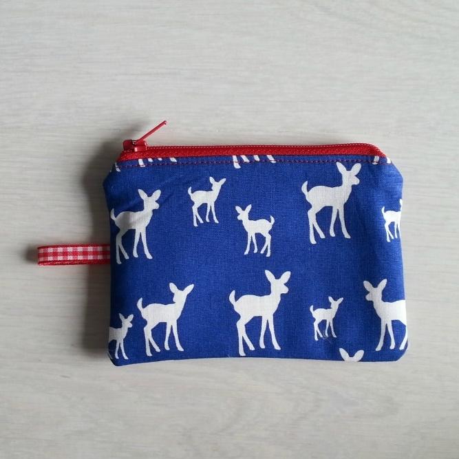Mini portemonneetje hertjes (rood)