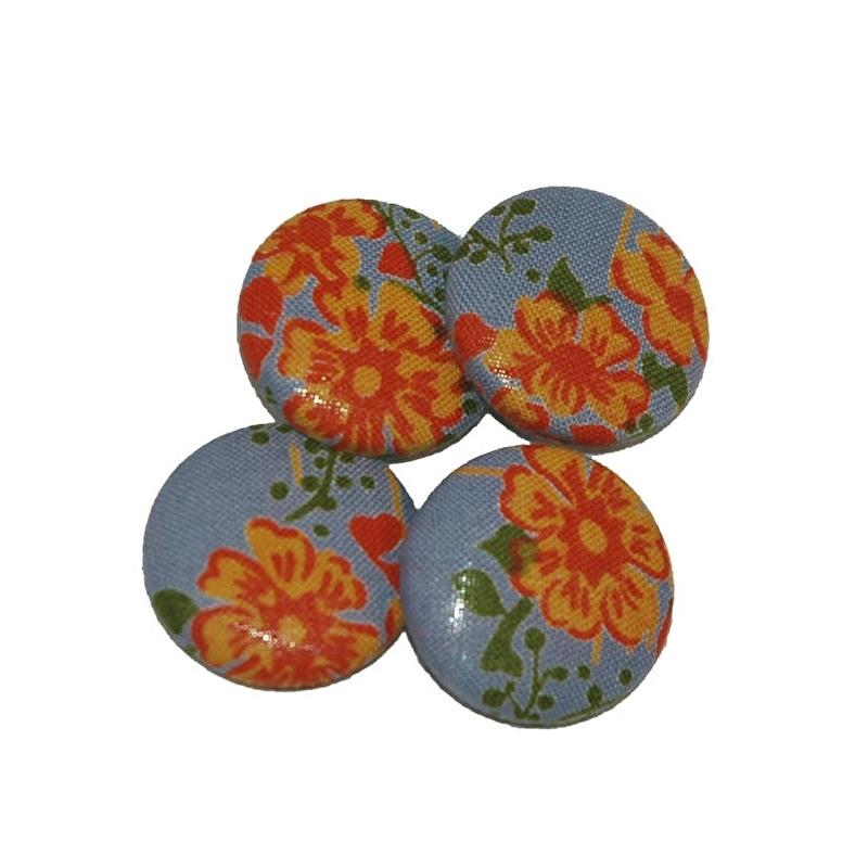 Knopen vintage bloemetje (28 mm)