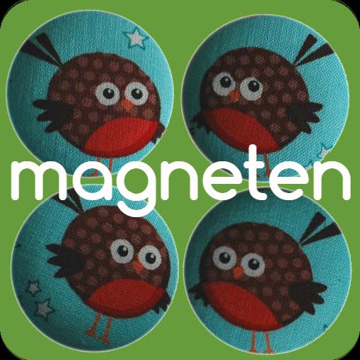 magneten buttons handgemaakt stof diy