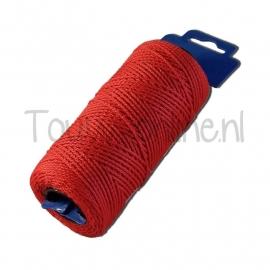 Sierkoord rood 1 mm / 100 meter (art. 13119)