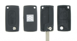 Peugeot/Citroen 2- knops klapsleutel ZB