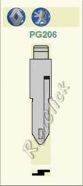 Peugeot Sleutelbaard PG206 / NE55 / NE72 (set a 2 stuks)