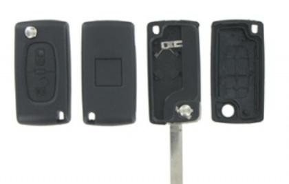 Peugeot/Citroen 2- knops klapsleutel MB