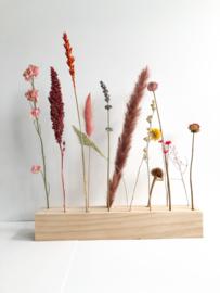 Plateau droogbloemen 25 cm