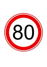 VERKEERSBORD 80 KM
