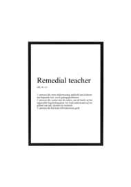 REMEDIAL TEACHER