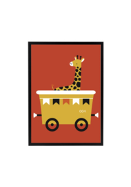 Wagon met Giraffe