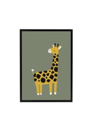 Giraffe Olijfgroen