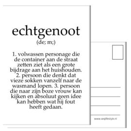 A6 KAART: ECHTGENOOT - SARCASTISCH