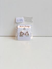 Oorbellen driehoek goudkleur