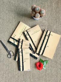 Organische schrijfwaren v Zintenz - schrift - notebook - to-do - enveloppen. Prijzen vanaf € 3,00