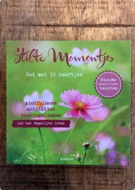 Leo Kaniok: Stilte Momentjes - doosje met 52 kaartjes vol mindfulness inspiratie.