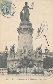 © 1906 - FRANCE Statue of the Republic - Lyon