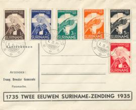 ¤¤¤ 1935 SURINAME 200 Jaar Zendingwerk