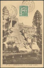 © 1931 INDO CHINA Pagoda Angkor Wat