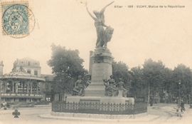 © 1904 - FRANCE Statue of the Republic - Vichy