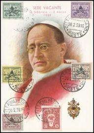 © 1939 VATICAN CITY - Coat of arms Pope Pius XI