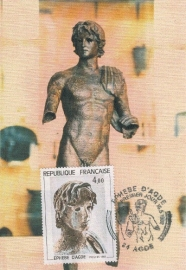 1982 FRANCE - Statue l'Ephebe