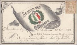 © 1874 SWITZERLAND Shield White cross