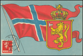© 1932 - NORWAY Coat of arms Lion