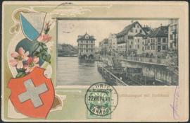 © 1904 SWITZERLAND Shield White cross
