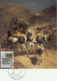 1987 SWITZERLAND Mail Delivery Stagecoach