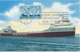 1955 USA - SS Wilfred Sykes