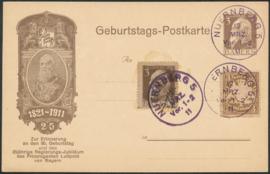 © 1911 - BAVARIA Prince regent Luitpold