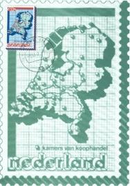 1979 NETHERLANDS Map Photocard