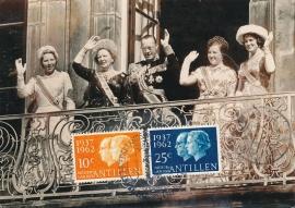 ®® 1962 NVPH 323/24 NED. ANT. Koningin Juliana Prins Bernhard