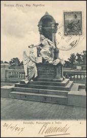 © 1907 ARGENTINA Republic statue Phrygian cap