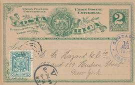 © 1899 COSTA RICA Coat of arms