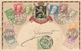 © 1909 - BELGIUM Coat of arms