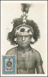 © 1934 - PAPUA Local warrior