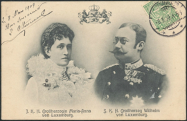 © 1909 LUXEMBOURG Coat of arms