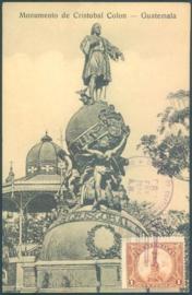 © 1926 GUATEMALA Statue of Columbus