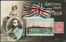 © 1914 - MALTA King George V