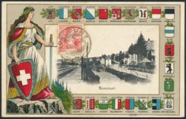 © 1908 SWITZERLAND Helvetia