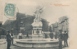 © 1905 - FRANCE Statue of the Republic Montblanc
