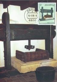 1995 LUXEMBOURG Wine press