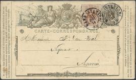 © 1874 - BELGIUM Coat of arms