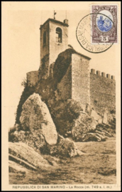 © 1936 - SAN ******** MARINO Castle on rock