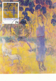 þþ - 2013 Gauguin Man Picking Fruit from a Tree
