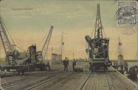 © 1911 KIAUTSCHOU Ships close to bridge
