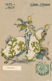 © 1905 - BELGIUM Coat of arms Heraldic Lion