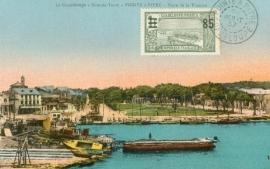 © 1937 GUADELOUPE Pointe á Pitre Harbor
