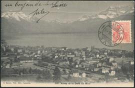© 1908 SWITZERLAND Alps Vevey