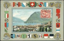 © 1908 SWITZERLAND Shield White cross