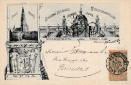 © 1894 - BELGIUM World's Fair Antwerpen