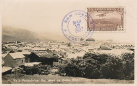 © 1937 COSTA RICA City overview San José